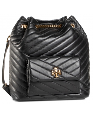 Plecak TORY BURCH - Kira Chevron Drawstring Backpack 73881 Black 001