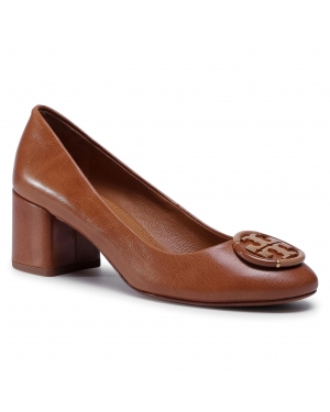 Półbuty TORY BURCH - 55MM Multi Logo Pump 76483 Tan 240