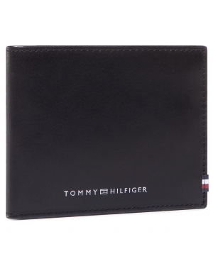 Duży Portfel Męski TOMMY HILFIGER - Polished Leather Mini Cc Wallet AM0AM06304 BDS