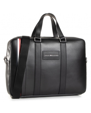 Torba na laptopa TOMMY HILFIGER - Th Metropolitan Computer Bag AM0AM06294 BLK