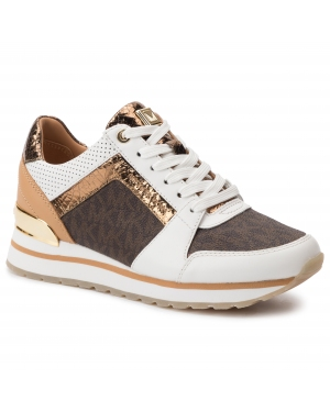 Sneakersy MICHAEL MICHAEL KORS - Billie Trainer 43T9BIFS1L Op Wht/Brown