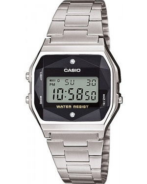 Zegarek damski Casio VINTAGE Black and Silver with Diamond Limited Outlet