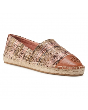 Espadryle TORY BURCH - Color Block Flat Espadrille 76257 Rose Gold Multi/Rose Gold Multi/Ambra 683