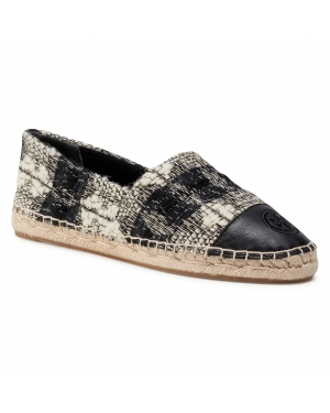 Espadryle TORY BURCH - Color Block Flat Espadrille 76256 Black/White/Black/White/Perfect Black 891
