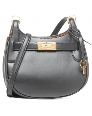 Torebka TORY BURCH - Lee Radziwill Small Saddlebag  Black 001