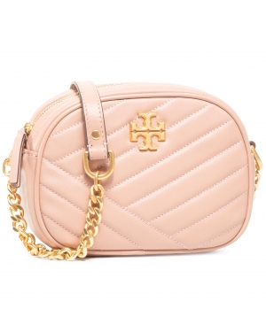 Torebka TORY BURCH - Kira Chevron Camera Bag 60227 Oink Moon/Rolled Brass 958
