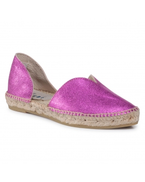 Espadryle MANEBI -  Open-Side Flats O 1.3 O0 Metallic Fuxia