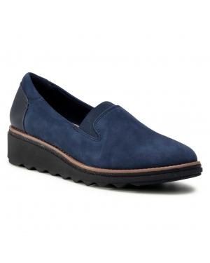 Półbuty CLARKS - Sharon Dolly 261363614  Navy Suede