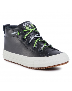 Sneakersy CONVERSE - Ctas Street Boot Mid 668489C Black/Bright Pear/Dolphin