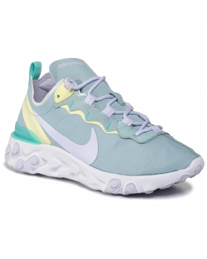 Buty NIKE - React Element 55 BQ2728 301 Ocean Blue/Amethyst Tint