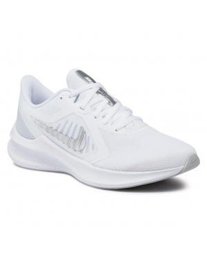 Buty NIKE - Downshifter 10 CI9984 100 White/Metallic Silver