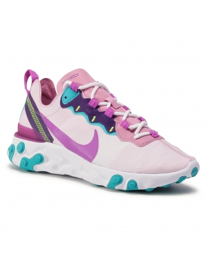 Buty NIKE - React Element 55 BQ2728 603 Magic Flamingo/Vivid Purple