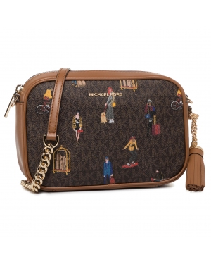 Torebka MICHAEL MICHAEL KORS - Jet Set 32H9GJ6M2O Brown Multi