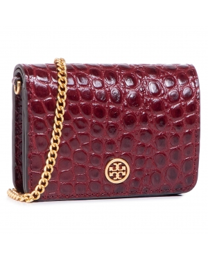 Torebka TORY BURCH - Walker Embossed Nano Wallet On Chain 74914 Claret 639