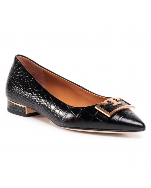 Półbuty TORY BURCH - Gigi 20Mm Pointy Toe Flat 76349 Perfect Black 006