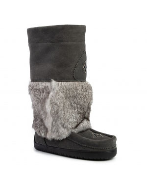Śniegowce MANITOBAH - Wp Snowy Owl Mukluk Suede 6010537 Charcoal/Anthracite