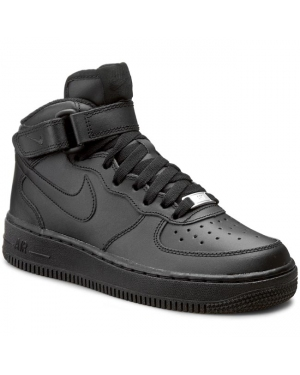 Buty NIKE - Air Force 1 Mid (GS) 314195 004 Black/Black