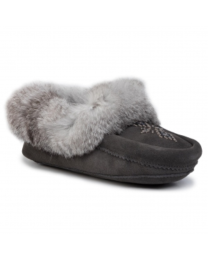 Kapcie MANITOBAH - Tipi Moccasin 4020037 Charcoal/Anthracite