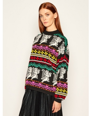 MSGM Sweter 2941MDM140 207764 Czarny Relaxed Fit