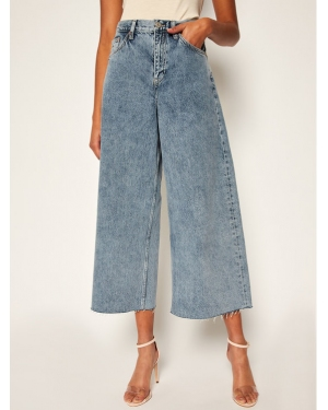 Tommy Jeans Jeansy Relaxed Fit Meg Mr Wide Leg Ankle DW0DW08380 Niebieski Relaxed Fit