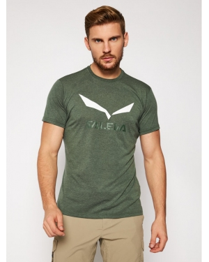 Salewa T-Shirt Solidlogo Dry 27018 Zielony Regular Fit