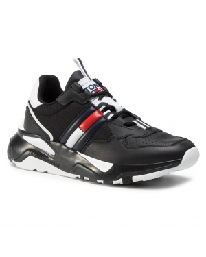 Sneakersy TOMMY JEANS - Chunky Tech Runner EN0EN01138 Black BDS