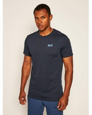 Jack Wolfskin T-Shirt Rebel T 1806852 Granatowy Regular Fit