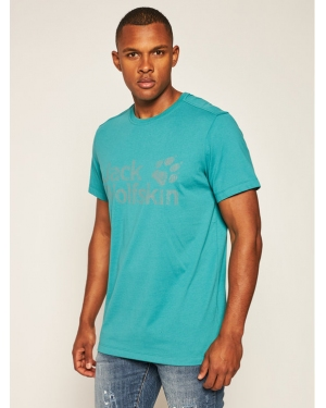 Jack Wolfskin T-Shirt Brand Logo T 1807261 Zielony Regular Fit