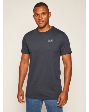 Jack Wolfskin T-Shirt Essential T 1805781 Granatowy Regular Fit