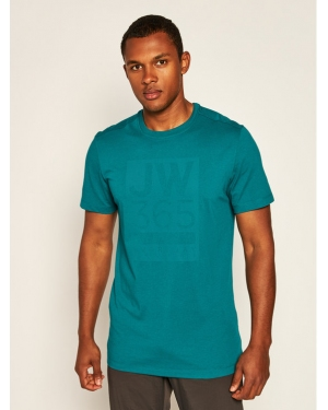 Jack Wolfskin T-Shirt 365 T 1806621 Zielony Regular Fit