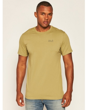 Jack Wolfskin T-Shirt Essential T 1805781 Zielony Regular Fit