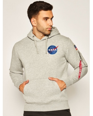 Alpha Industries Bluza Space Shuttle 178317 Szary Regular Fit