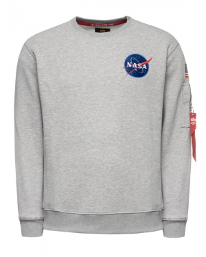 Alpha Industries Bluza Space Shuttle 178307 Szary Regular Fit