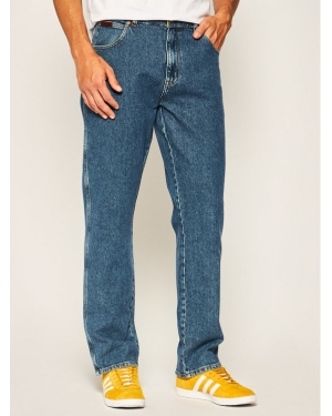 Wrangler Jeansy Regular Fit Texas W121TM71R Granatowy Authentic Straight Fit