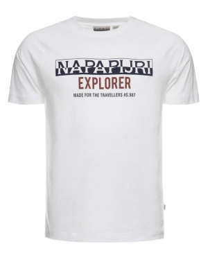 Napapijri T-Shirt Soves N0YIX3 Biały Regular Fit