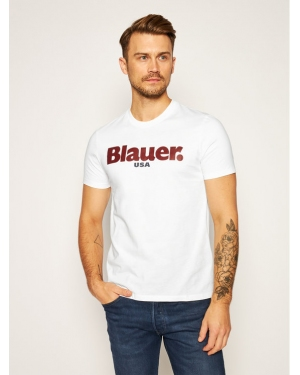 Blauer T-Shirt Monica Corta 20WBLUH02219 005788 Biały Regular Fit