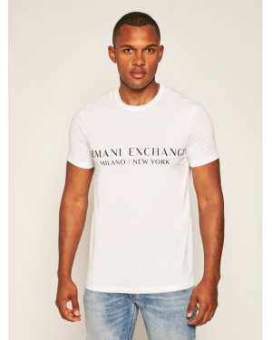 Armani Exchange T-Shirt 8NZT72 Z8H4Z 1100 Biały Slim Fit