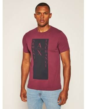Armani Exchange T-Shirt 6HZTAM ZJLDZ 1306 Bordowy Slim Fit