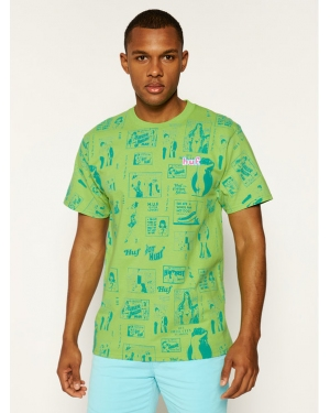 HUF T-Shirt Tijuana Memories TS00995 Zielony Regular Fit