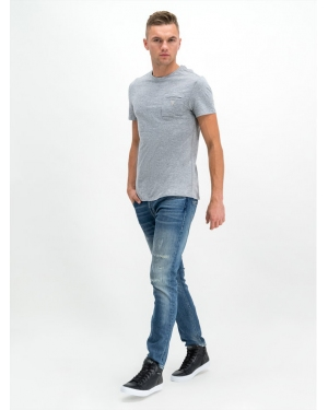 Guess T-Shirt M94I44 K99T0 Szary Slim Fit