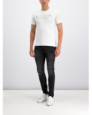 Guess T-Shirt M93I36 J1300 Biały Super Slim Fit