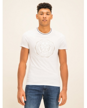 Guess T-Shirt M01I83 K46D0 Biały Slim Fit