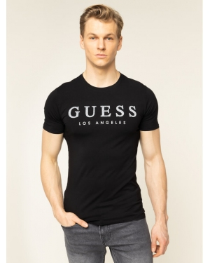 Guess T-Shirt M01I54 J1300 Czarny Regular Fit