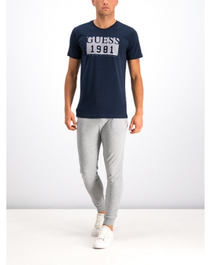 Guess T-Shirt M94I48 I3Z00 Granatowy Slim Fit
