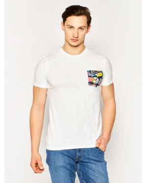 Guess T-Shirt Printed Pocket Tee M0GI68 K6XN0 Biały Slim Fit