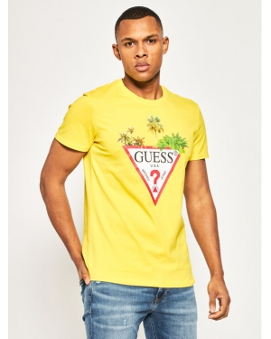 Guess T-Shirt Palm M0GI76 I3Z00 Żółty Slim Fit