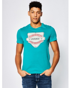 Guess T-Shirt Emblem Tee M0GI46 K8HM0 Zielony Slim Fit