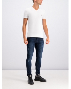Guess T-Shirt Core M94I32 J1300 Biały Super Slim Fit