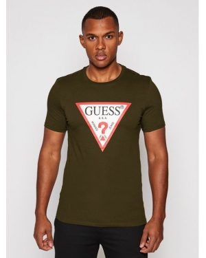 Guess T-Shirt M0BI71 I3Z11 Zielony Slim Fit