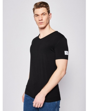 Guess T-Shirt V Neck U02M01 JR06A Czarny Regular Fit